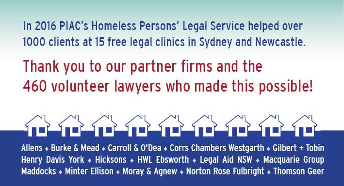 We have Helped to Assist over 1000 Clients at the Homeless Persons' Legal Service